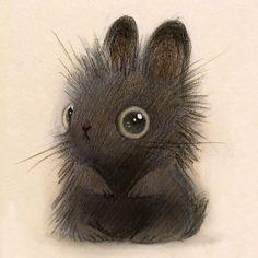 A fuzzy bunny by Heather Gross