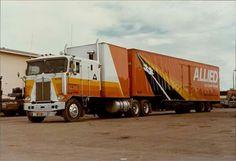 Kenworth Trucks, Peterbilt, Semi Trucks, Big Trucks, Allied Moving, Moving Trucks, Cab Over, Heavy Machinery, Classic Trucks