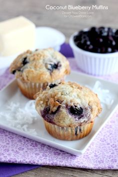 Coconut blueberry muffins #breakfast #recipes #food