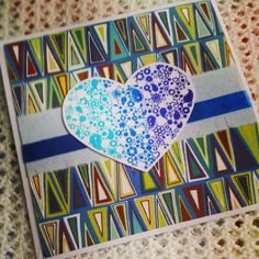 Starting to think about more wintry #heart #cards