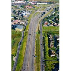 Aerial view of a highway passing through a town Interstate 80 Park City Utah USA Canvas Art - Panoramic Images (25 x 36)