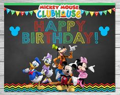 Mickey Mouse Clubhouse Cupcake Toppers por ItsACowsOpinion en Etsy