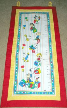 Fabric Growth Chart Vintage Snoopy Quilted by NWCreativeStitches, $75.00