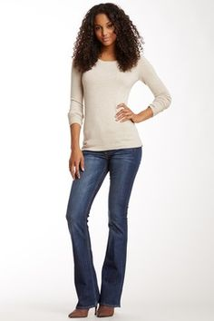 Signature Mid Rise Bootcut Jean