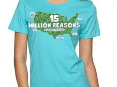 15 Million Reason to Care about Food Allergies! T-shirts available in adult and children's sizes to help raise awareness wherever you go!