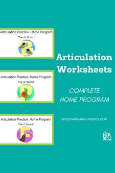 Free articulation worksheets to work on /b/, /p/, and /f/ sounds. Print at home and use for free!