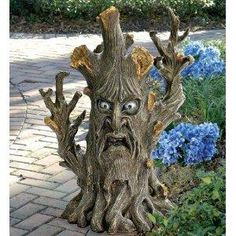 scary tree outdoor statue