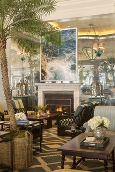 Lobby Lounge, luxury beach Hotel Casa del Mar - Santa Monica, California.