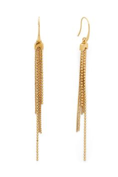 DVF Mixed Chain Linear Earrings
