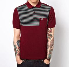 Fred Perry shirt & tattoos ... <3