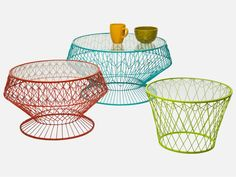 Stolik Kawowy Wire Colore (3/Set) — Ławy, Stoliki kawowe Kare Design — sfmeble.pl