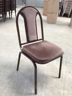Another style of steel framed banqueting chair.   In the middle price range. Good for hotels.