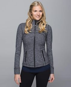 Lululemon - Define Jacket, I think I'm a size Coco pique black color Athletic Outfits, Athletic Wear, Lululemon Jacket, Zip Ups, Jackets For Women, Women's Jackets, Hoodies, My Style, Clothes