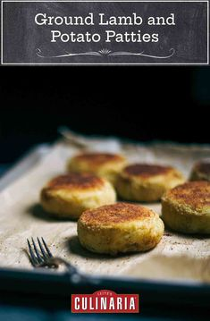 Ground Lamb, Ground Meat, Lamb Recipes, Cooking Recipes, Fluffy Mashed Potatoes, Can Of Soup, Potato Patties, Fried Apples, Patties Recipe