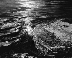 Hot Creek Currents (#6). As if standing on the deck of some ocean bound vessel, looking out towards the setting sun at some Sargasso-like sea, waterborne plants define the swirling currents and eddies of Hot Creek. 4:5 aspect ratio. Negative #120020600608.