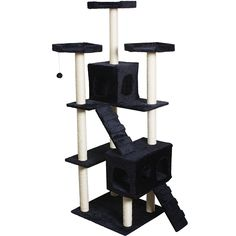 Navy 73' Pet Cat Tree Tower Kitty Toy House Scratch Post Condo ** Details can be found by clicking on the image. (This is an affiliate link and I receive a commission for the sales)