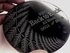 All Blacks 2015 RWC souvenir coasters new by DreamADesign Silver Fern, World Cup Final, All Blacks, Rugby World Cup, Cut Work, Laser Engraving, Laser Cutting, Kiwi, Coasters