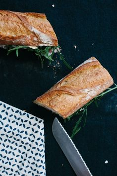 Prosciutto, Arugula and White Truffle Sandwich   Not Without Salt   lines & negative space    #foodphotography