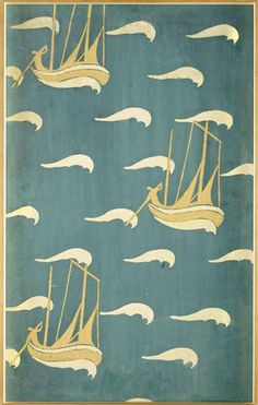 Les bateaux jaunes, Maurice Denis, 1893, projet de papier peint