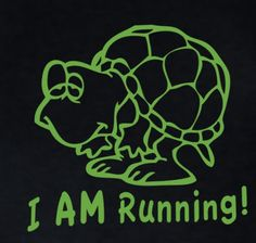 My next running shirt!!! Riley could probably walk at my running pace.