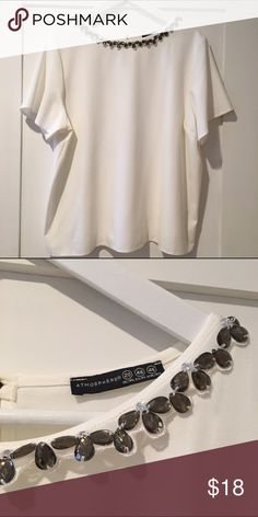 NWOT Primark blouse New without tags • never worn • Bought this cutie in London and always fit big on me• never worn • I remove the tags when I buy clothes abroad, in case they inspect my baggage • size 20UK • 16US • it has a rhinestone detail around the neckline• NOT ASOS, BUT PURCHASED IN THE UK 🇬🇧 ASOS Curve Tops
