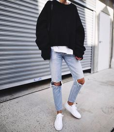 Best Capsule Wardrobe Part 33 Uni Outfits, Edgy Outfits, Fashion Outfits, Fashion Tips, Fall Outfits, Uni Fashion, Trendy Fashion, Autumn Fashion, Clothing Staples