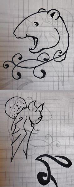 Petits dessins inspirés de tatouages