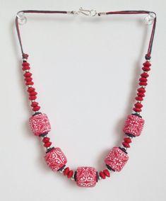 Polymerclay handmade beads. 47 cm. Бусы из бусин ручной работы из полимерной глины. Длина 47 см.