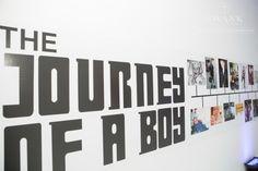 Journey of a Boy Photo Timeline - Bar Mitzvah Party Theme Ideas {Swank Productions, 5th Avenue Digital} - mazelmoments.com