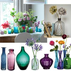 Summer colour accessories - Nothing perks up a room quicker than a colourful vase of fresh summer flowers.