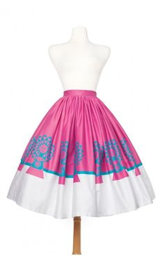 Pinup Couture- Jenny Skirt in Mary Blair Mother and Child Print - Plus Size | Pinup Girl Clothing