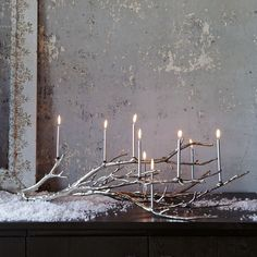 This silver branch candelabra is a beautiful piece of seasonal decor that can stay out on display all winter long!