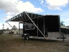 New 7 x 18 Enclosed Concession Food BBQ Trailer Food Trailer For Sale, Concession Trailer For Sale, Concession Food, Food Truck For Sale, Trailers For Sale, Trucks For Sale, Used Food Trucks, Food Truck Interior, Cafe Express