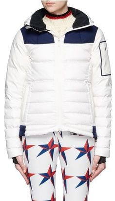 5d556206a5f Perfect Moment 'Amak' colourblock quilted down ski jacket Down Ski Jacket,  White Slip