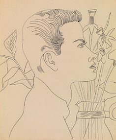 Andy Warhol Boy with Flowers, 1955 - 1957 Pen and ink on paper x cm Andy Warhol Pop Art, Andy Warhol Drawings, Andy Warhol Museum, Illustrations, Illustration Art, Museum Ludwig, Blog Art, Renaissance, Pop Art Movement
