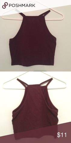Burgundy halter top Simple yet stylish burgundy halter top Nollie Tops
