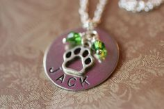 Pet Memorial Jewelry Necklace  by DistinctlyIvy