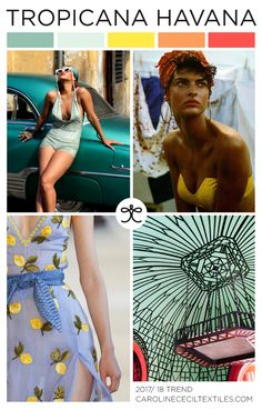 EMERGING TEXTILE TRENDS- have several of the greens, need to stock up on the oranges!
