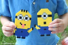 Image result for minions perler beads