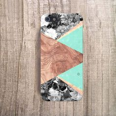 MINT iPhone Case Wood Print, iPhone 4s Case Wood Print - Floral iPhone Case, Geometric Cases
