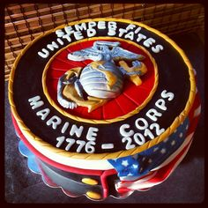 Happy Birthday Marine Corps Cake