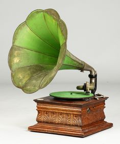 Rare Pressed Cabinet European Gramophone | Cottone Auctions