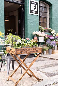 Exploring London villages: Bermondsey Street near London Bridge. Hej Coffee on Bermondsey Square.