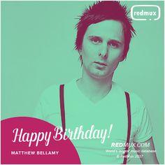 Matthew Bellamy birthday wish card by redmux