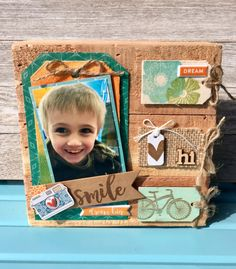 Smile Wood Plank By Patty Folchert featuring Jillibean Soup Mix the Media wood plank and Bowl of Dreams.