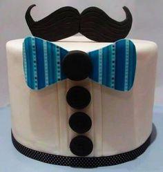 Shugar Deli | Boutique para Eventos en CDMX | Día del Padre Sweet Cakes, Cute Cakes, Mini Cakes, Cupcake Cakes, Hombre Cake, Birthday Party Themes, Birthday Cake, 50th Birthday, Mustache Cake