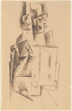 Pablo Picasso. Cubist Man Reading, 1912.  Metropolitan Museum of Art, NY.  Compare this with the Persian Man Reading!