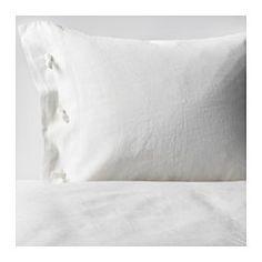 IKEA - LINBLOMMA, Bettwäscheset, 2-teilig, 140x200/80x80 cm, , Leinen ist ein Naturmaterial mit variierendem Gewebebild, das der Bettwäsche eine spezielle Struktur und feinen Glanz verleiht.Leinen ist atmungsaktiv, hochgradig saugfähig und sorgt für angenehm kühlen, behaglichen Schlafkomfort.Leinen ist robust, haltbar, waschbar und hat eine Art natürlichen Fleckschutz. Es wird mit der Zeit immer griffiger und weicher.Dekorative Bänder am Bettbezug mit Hotelverschluss verhindern, dass die…