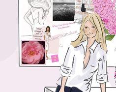 Wandkunst für Frauen - machen einen Plan rosa - Kunstdruck/Poster Wand - Kunst-Digitaldruck - Wall Art - Print