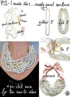 DIY statement necklace.